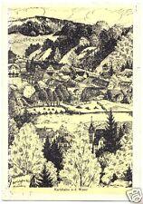 AK, Karlshafen a.d. Weser, Teilansicht, Künstlerkarte, um 1970