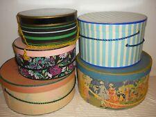 Lot 5 hatboxes Le Charme Vintage Hat Box roses