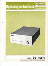Bedienungsanleitung für National Panasonic Model SE-405H