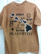 Red Dirt Hawaii T-shirt, Medium, Island Style on Back