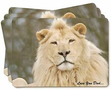 White Lion 'Love You Dad' Picture Placemats in Gift Box, DAD-149P