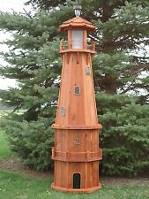 6' Octagon Electric and Solar Powered Octagon Red Cedar Lighthouse