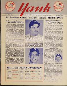 1955 Yank New York Yankees Team Newsletter Mickey Mantle, Yogi Berra, Don Larsen