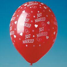 20 Luftballons JUST MARRIED Rot Hochzeit Dekoration Party Deko D 30 cm U 96 cm