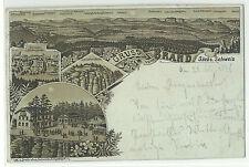 Brand Sächs. Schweiz braune Vorläufer-Litho 1898 viel früherer Druck!