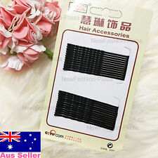 24pcs Large Size Black Wave Bobby Pins with Invisible Flat Top/ High Quality