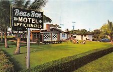 FORT LAUDERDALE FLORIDA BEA & BEN MOTEL 2005 S MIAMI ROAD~ROUTE 1POSTCARD 1960s