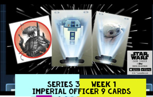 topps star wars card Trader WEEK 1 TIER 6 IMPERIAL OFFICE OLIVE 9 Card Set