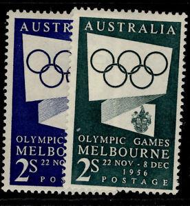 AUSTRALIA QEII SG280-280a, 1954 olympic games propoganda set, M MINT.