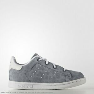 adidas Stan Smith Cheetah Shift Infants Sizes 4, 5, 8.5 Grey RRP £40 Brand New
