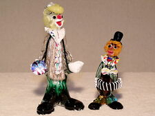 """Murano vintage glass clowns / set of two / 8.5"""" & 6"""" tall / excellent condition"""