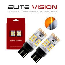 Elite Vision 7443 Switchback LED Turn Signal Light Bulbs Kit for Ford 3K 2600LM