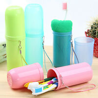 4 Color Portable Tooth Mug Toothbrush Holder Toothpaste Cup Travel Access Dshq