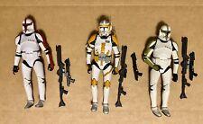 3x Lot Loose Black Series 6inch Clone Commander Cody Clones Captain & Sergeant