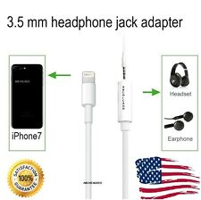 Lightning to 3.5mm Aux Headphone Jack Adapter Cable For Apple iPhone 7 / 7 Plus