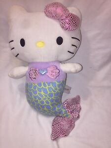 "Fiesta Hello Kitty Mermaid Plush Doll 12"" EUC P54"