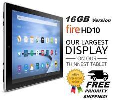 Amazon Fire HD 10 - 16GB Tablet, Alexa, Kindle, Wi-Fi, 10.1in - Black(Brand New)