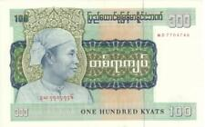 Burma 100 Kyats Currency Banknote 1976 AU/UNC