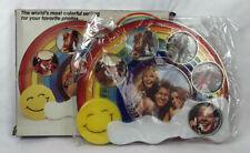 Rainbow Photo Collage Picture Frame Vintage  Plastic Rainbow Multi Pictures