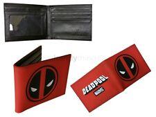 Marvel Avengers Comic Deadpool chicos rojo Billetera Portatarjetas Regalo de Novedad
