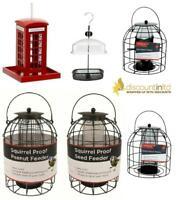 New Peanut/ Seed/ Fat Ball Mealworm Bird Feeder Squirrel Proof Feeding Station