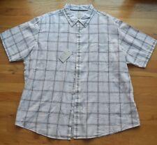 NWT Croft & Barrow Easy Care White plaid button down shirt (XXL)