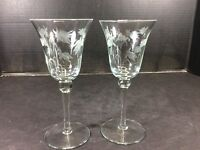 BEAUTIFUL VINTAGE PAIR OF FROSTED COCKTAIL GLASSES