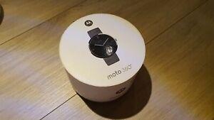 Motorola 360 46mm Edelstahl Gehäuse mit Schwarz Edelstahl Band