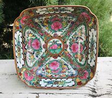 Antique 1821-1850 Famille Canton Rose Medallion Design Chinese Porcelain Bowl