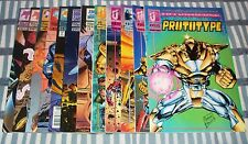 Malibu Comics PROTOTYPE Set #1 to #12 first full year Armored Hero from 1993