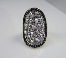 Estate Rare John Hardy Jai Sterling Silver Black Sapphire Saddle Crocodile Ring