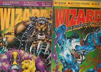 2 WIZARD LOT  16  AND 18    FPLUS TO NM  VENOM SPIDER MAN  PITT  MAXX