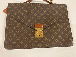 New Louis Vuitton Leather Monogram Serviette Conseiller Briefcase, Vintage