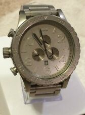New Authentic NIXON Watch Mens 51-30 CHRONO All Raw Steel  A083-1033 A0831033