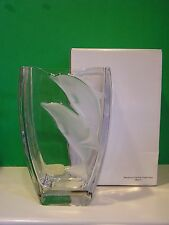 LENOX WONDROUS DOLPHINS CRYSTAL VASE NEW in BOX Made in Germany