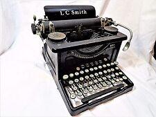 ANTIQUE 1929 L C SMITH & CORONA NO. 8 / 10IN TYPEWRITER WORKING