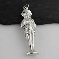 Little Boy Sewing Needle Case or Toothpick Holder - 925 Sterling Silver NEW