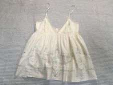 Vintage All Saints Elia top lace trim embroidered magnolia pearl strappy 12