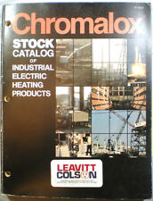 CHROMALOX Heating Heater Products Catalog Emerson Electric Asbestos Wiring 80's
