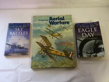 x3 Books - History Of Aerial Warfare - Sky Battles - Eagle Day - Good Condition