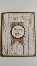 Handmade THINKING OF YOU card, Stampin Up Thoughts & Prayers, Hardwood