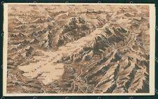 Brescia Lago di Garda Mappa cartolina QK7111