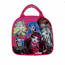 Monster High Ghoulishly Girls Canvas Insulated Lunch Bag-Pink