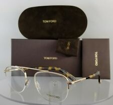 ce4e5fd603 Brand New Authentic Tom Ford Eyeglasses Ft Tf 5450 28B 49Mm Gold Tortoise  Frame