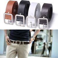 Luxury Men Leather Dress Belt Square Pin Buckle Casual Waistband Waist Belts