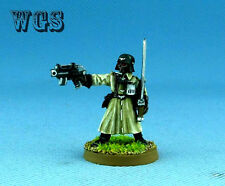 40K WGS Painted Imperial Guard Steel Legion Officer Power Sword and Pistol IG005