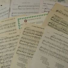 Vintage CHRISTMAS SONGS sheet music paper maybe for art craft decoupage cards