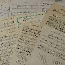 Vintage de navidad SONGS lámina música papel tal vez para arte manualidades