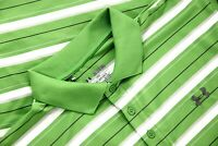 Under Armour Heatgear Loose Mens Golf Performance Polo Shirt Green Striped 2XL