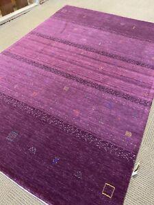 Stunning Tribal oriental rug new Gabbeh hand made Purple 8'x10' Woven nomadic